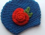 Wilda - 2T to 4T children hat with flowers