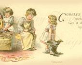 Cobbler, Cobbler, late 1800's, Instant Digital Download Printable image scan, DB011
