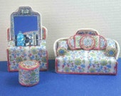 """French Country Bedroom Kit in Quarter Scale, 1:48, 1/4"""""""
