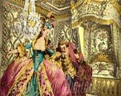 Marie Antoinette in her Chamber, French Photo Digital Collage Instant Digital Download FrA023