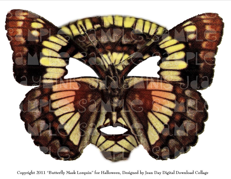 Digital Download Halloween Carnival Butterfly Mask Lorquin
