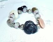 Filigree Antique Button Bracelet