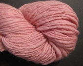 Hand Spun and Naturally Hand Dyed Corriedale Wool Yarn - Pink Cabbage
