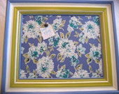 Blue and Green Floral Magnetic Board