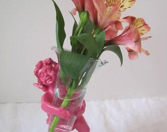 Hotsy Totsy Cherub Bud Vase