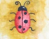Ladybug Ladybug - Original ACEO Watercolour