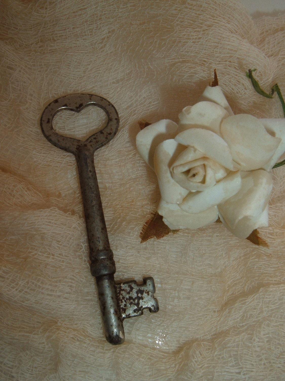 Heart shaped skeleton key