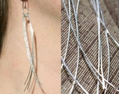 Long Silver Thread Earrings - Brilliant Sterling