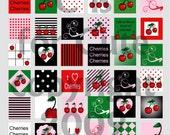 1 x 1 Cherries Cherries Everywhere Digital Collage Sheets