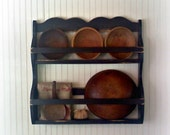 Bowl Rack Primitive Colonial Early American Style 3C
