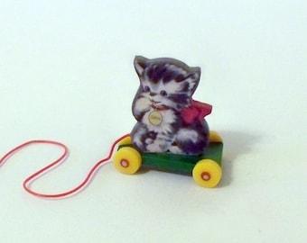 Miniature Kitten Pull Toy KIT Dollhouse