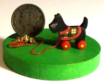 Miniature Scottie DOG Pull Toy KIT