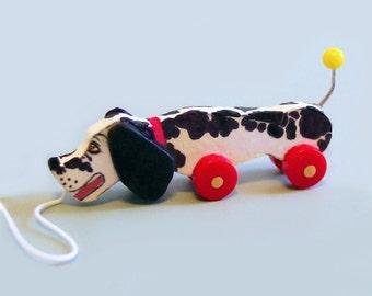 Dollhouse Miniature DOG Pull Toy KIT