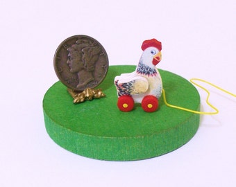 Penny Hen Pull Toy KIT Dollhouse Miniature