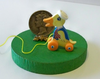 Duck Pull Toy KIT Dollhouse Miniature