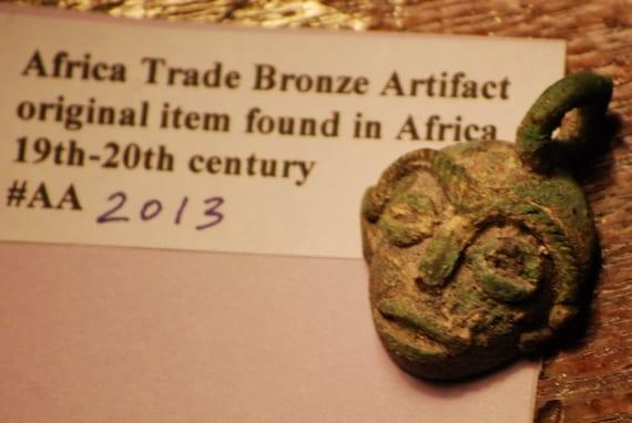 African Trade Bronze Pendant
