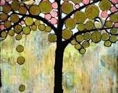 Chickadee Tree 8X10 Art Print