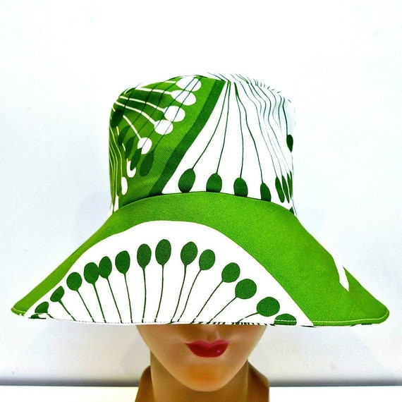 Women's Retro Sun Hat  -  MADE TO ORDER - 3 Weeks to Ship