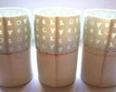love - Translucent porcelain cup