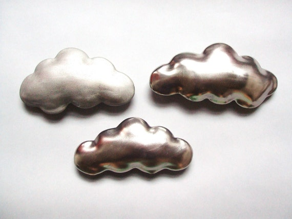Silver cloud - porcelain wall  cloud pillow
