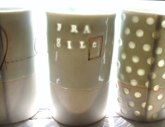 Fragile - Translucent porcelain cup