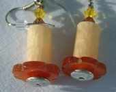 Yellow Candle Earrings