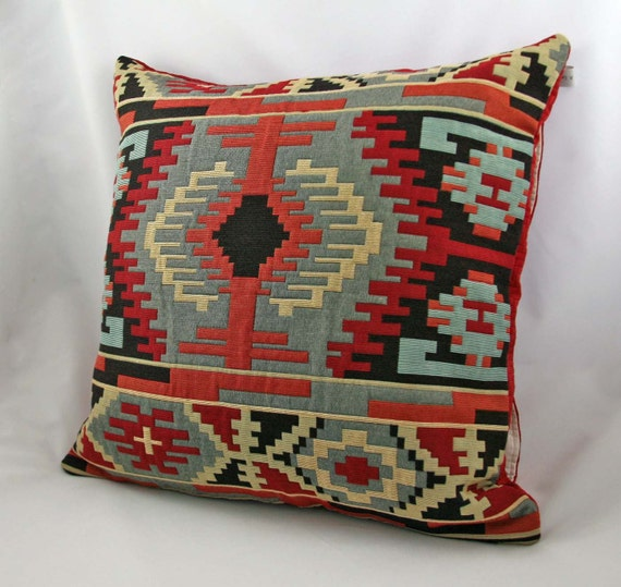 Modern Southwest Pillow : Decorative pillow Southwestern Geometric Rust by LordAndBelisle