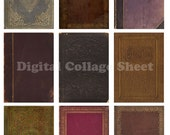 Vintage Book Covers no 013 ATC ACEO backgrounds Collage scrap sheet Buy 3 Get 4th Free