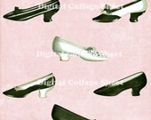 Vintage Shoes 03 vintage ATC ACEO scrap collage sheet png files Buy 3 Get 4th Free