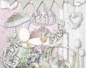 Dreamy White - Digital Scrapbook Kit