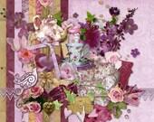 La Vie en Rose - Digital Scrapbook Kit