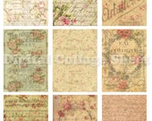 Vintage backgrounds no 072 ATC ACEO cards digital Collage scrap sheet Buy 3 get 4th free