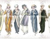 Regency Ladies 03 vintage ladies ATC ACEO scrap collage sheet paper doll png files