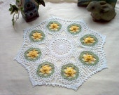 Daffodils  N Lace Vintage Style Crochet Thread Art New Doily