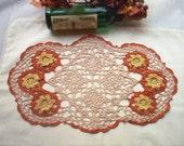 Tawny Port New Vintage Style Crochet Lace Thread Art Doily