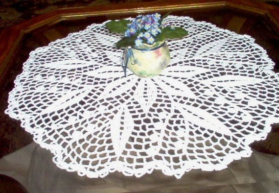 Lily of the Valley Centerpiece Crochet Thread Art Doily