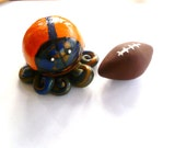 ONE Custom Mini Marble Octopus In Team Football Colors-High School College or Professional
