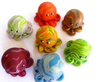 Party Pack Custom Little Octopus Party or Wedding Favors Quantity Ten You Choose Colors