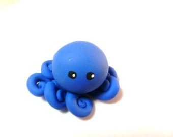 Little Octopus in Solid French Blue