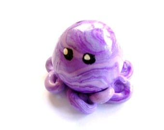 Awesome Little Octopus in Lilac and Violet Swirl