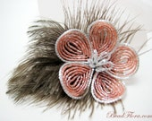 French fantasy beaded flower hair clip autumn accessories-- member of the artisan group