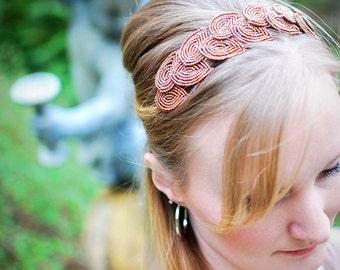 2012 MTV Movie Awards headband-- Artemis - headband, bronze leaf laurel  head band- autumn accessories