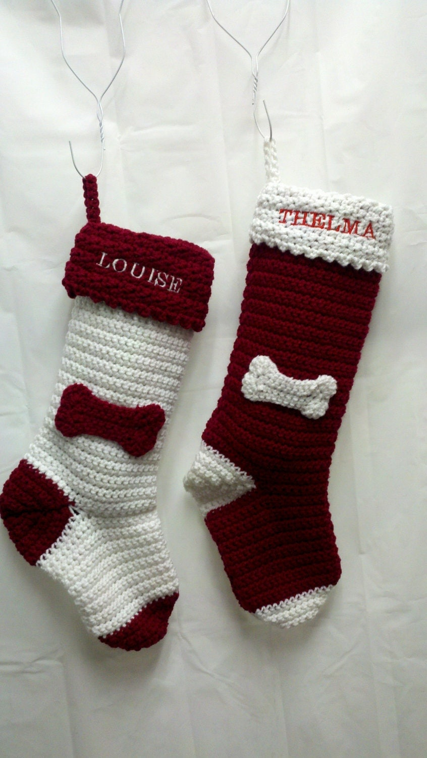Personalized dog christmas stocking by bluewatergifts on etsy for Personalized dog christmas stocking