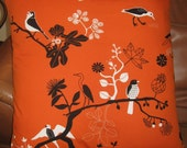 Custom Listing for Trish:  Birds of Fall Pet Bed Set of TWO pillow covers