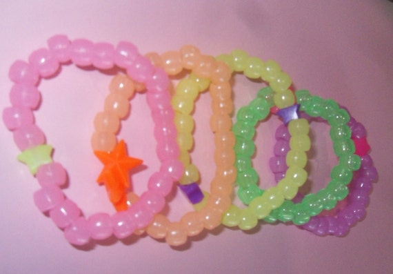 Glow in the Dark Rainbow Kandi Bracelets