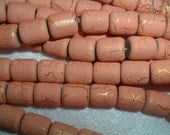 Desert Sun Beads in Peach with Gold