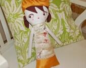 Original Handmade Art Doll -- Valentine's Day Gift  -- Rag Doll -- Valentine -- Soft Toy -- Cloth Doll --