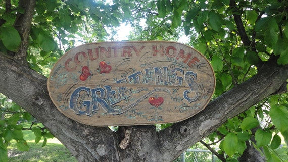 Barnwood Welcome Sign Country Home Greetings