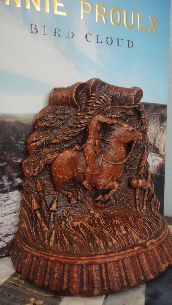 Vintage Bookend Wild West Cowboys and Indians Syroco