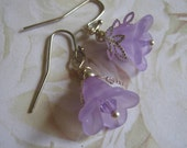 Lavender Lily Flower Dangle Earrings